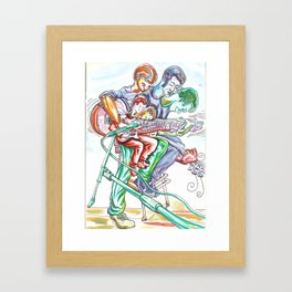 Playing from the heart Framed Art Print