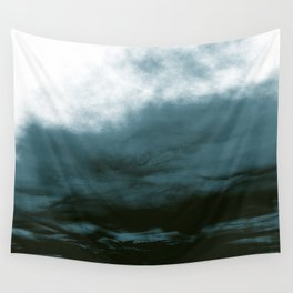 WHITE & BLUE & BLACK TOUCHING #1 #abstract #decor #art #society6 Wall Tapestry