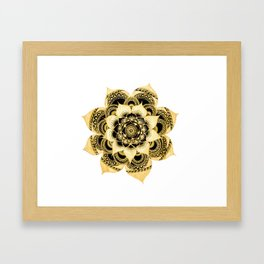 cool mandala Framed Art Print