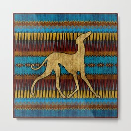 Greyhound Azawakh Metal Print