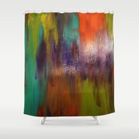 chaos Shower Curtains featuring Chaos by Jordan Luckow