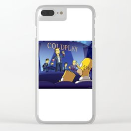 cold play simpson Clear iPhone Case