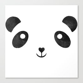 Panda, black and white panda face Canvas Print