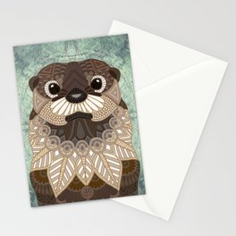 Ornate Otter Stationery Cards