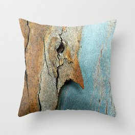 Eucalyptus tree bark texture 10 Throw Pillow