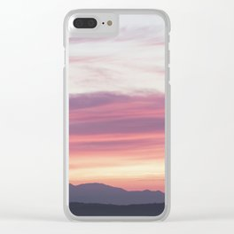 Sunset Layer Cake Clear iPhone Case
