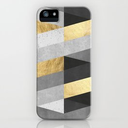 Gold and gray lines IV iPhone Case