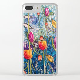 Flowers flow Clear iPhone Case