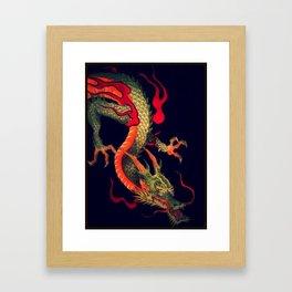Dragon out the Shadows Framed Art Print