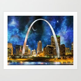 Spacey St. Louis Skyline Art Print