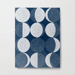 Moon Phases Metal Print