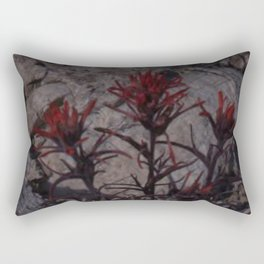 Crimson Desert Flower Rectangular Pillow