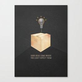 Good ideas – black Canvas Print