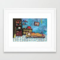cinderella Framed Art Prints featuring Cinderella by Agnes Laczo