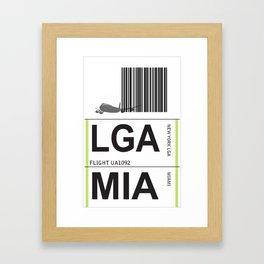 jetset:  lga to mia Framed Art Print