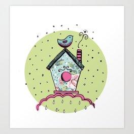 Bird's house Art Print
