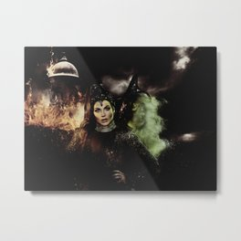 Sisters: The Evil Queen and The Wicked Witch Metal Print