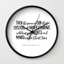 Philippians 4:7 Bible Verse Wall Clock