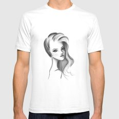 V. SMALL Mens Fitted Tee White