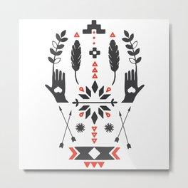 Norwegian Folk Graphic Metal Print