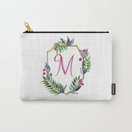 Jungle Gold Monogram Crest M Carry-All Pouch