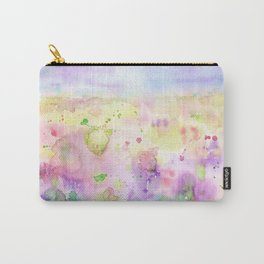Watercolor abstract meadow Painting Carry-All Pouch