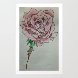 every rose has thorns 2 Art Print