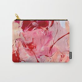 Crimson Blooms Carry-All Pouch