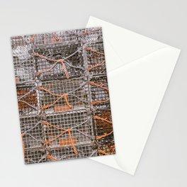 Lobster Pot Orange Rope Color Isolation New England Fishing Atlantic Coast  Stationery Cards