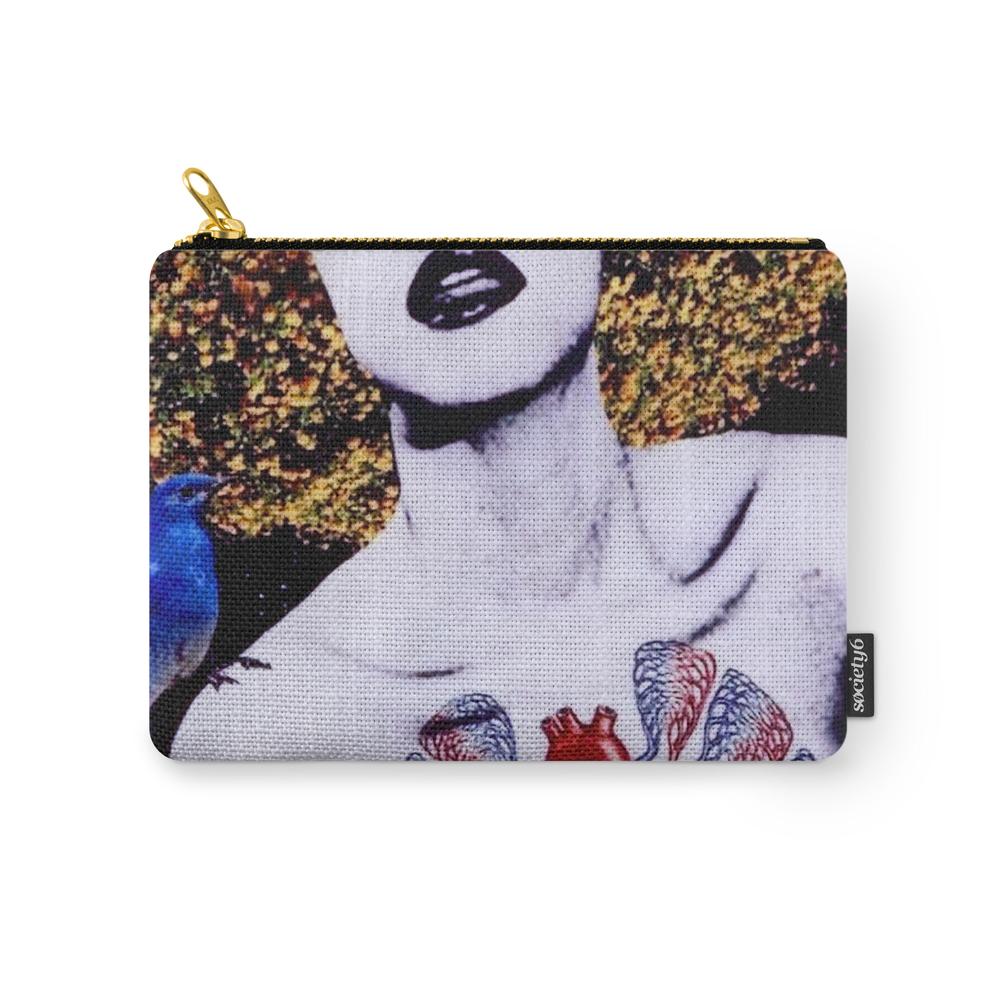 Bluebird Beauty Carry-All Pouch by isadoraemmacryer
