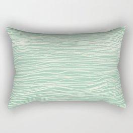 Jade Glow - abstract lines in cream & mint Rectangular Pillow