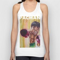 """pac man Tank Tops featuring """"Pac Man"""" by Basic Lee"""