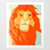 simba Art Prints featuring Simba by Makayla Wilkerson