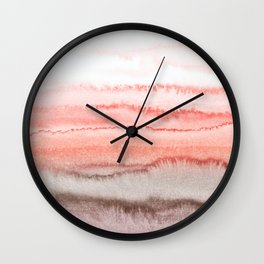 WITHIN THE TIDES CORAL DAWN Wall Clock