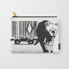 Banksy Animal Rights Artwork, Jaguar Tiger Barcode Prints, Posters, Bags, Tshirts, Men, Women, Youth Carry-All Pouch