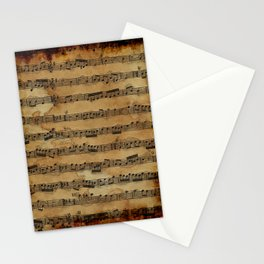 Grunge Sheet Music Music-lover's Design Stationery Cards