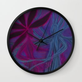 Tree and Flower of Wisdom Wall Clock