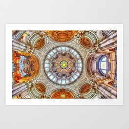 Cathedral Dome Ceiling, Berlin Art Print