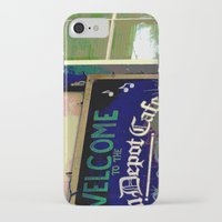 cafe iPhone & iPod Cases featuring Cafe by Glenn Designs