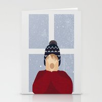 home alone Stationery Cards featuring Home Alone by Robert Scheribel