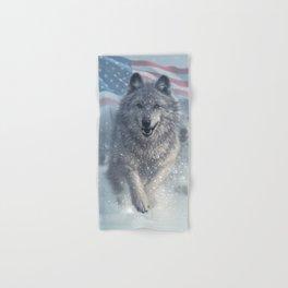 Running Wolves America Hand & Bath Towel