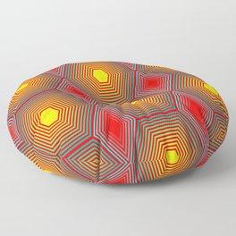 Hypnotic Geometric - Light Floor Pillow