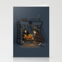 hallion Stationery Cards featuring The Witch in the Fireplace by Karen Hallion Illustrations