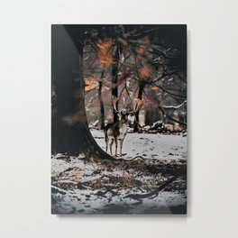 Cool jungle Deer Metal Print