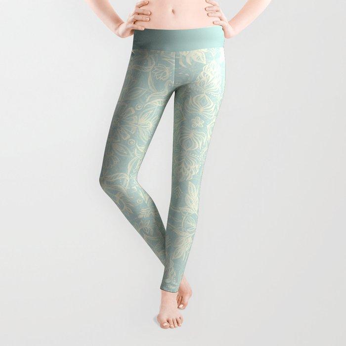 Pale Jade Tattoo - a pattern Leggings