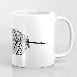 Aztec black and white feather Coffee Mug