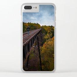 Bridge over Trestle Falls Clear iPhone Case