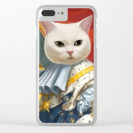 Cat King Clear iPhone Case