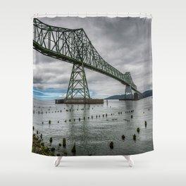 Astoria - Megler Bridge Shower Curtain