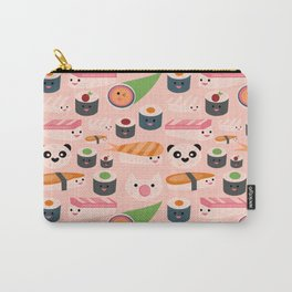 Kawaii sushi light pink Carry-All Pouch